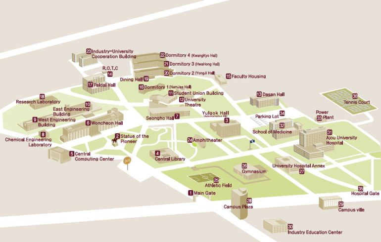 ajou_university_campus_map